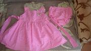 Продам платье на девочку 9-12 мес